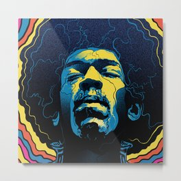Gabz Jimi Hendrix Voodoo Child Poster Release From Dark Hall Mansion Metal Print