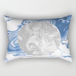 Amira - spilled ink japanese watercolor marble geometric circle shape trendy painting swirl ocean  Rectangular Pillow
