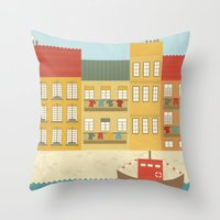 portugal Throw Pillows featuring Portugal by Kakel