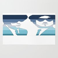 blues brothers Area & Throw Rugs featuring Blues Brothers (Tribute) by Kerosene Bill