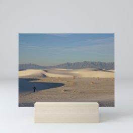 Adam in White Sands, New Mexico Mini Art Print