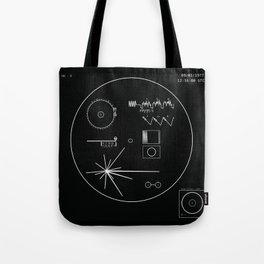 Voyager 1 - Black Tote Bag