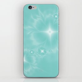Fleur de Nuit in Aqua Tone iPhone Skin