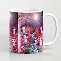 kodama Mugs featuring Kodama by the Stream by pkarnold + The Cult Print Shop