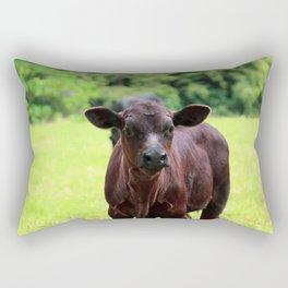 Kauai Cow Photo Cattle Baby Cow Farmhouse Modern  Rectangular Pillow