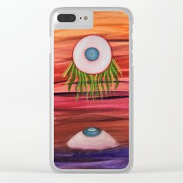 The Eyes Have It - Warm Clear iPhone Case