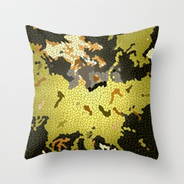 Abstract leaves mosaik Throw Pillow