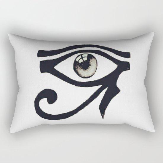 Chinese Alphabet Eye Rectangular Pillow
