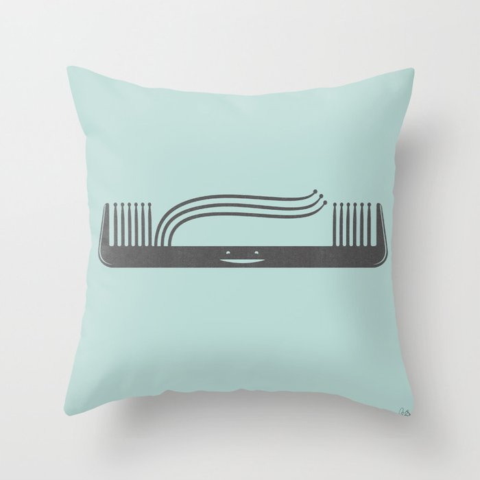 Comb Over Throw Pillow