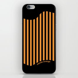 Etoide Jingga Orange Black Stripes iPhone Skin