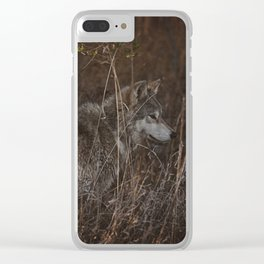 Cana in Fall Foliage Clear iPhone Case