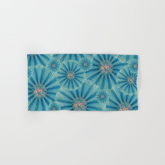 Fractal Flower Pattern Hand & Bath Towel