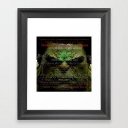 The Thanksgiving Hemp Hulk Framed Art Print