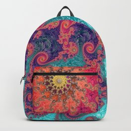 Rainbow Fractal Backpack