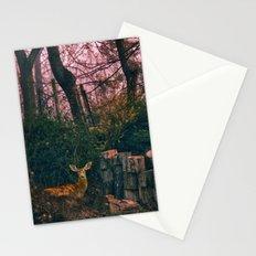 Deer in my yard Stationery Cards