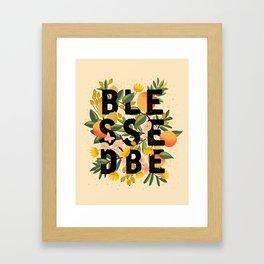 BLESSED BE LIGHT Framed Art Print