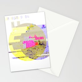 GLITCH NATURE #114: Lying down in the heat, a pink bucket appeared. Stationery Cards