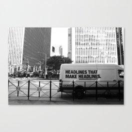New York Post Truck, Manhattan Canvas Print