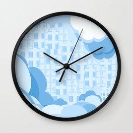 Clouds, buildings (164) Wall Clock