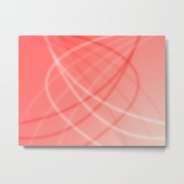 Red Background Metal Print