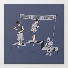 Robot Dance Contest Canvas Print