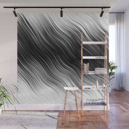 Stripes Wave Pattern 10 bwi Wall Mural