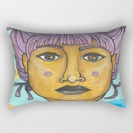 purple buns Rectangular Pillow