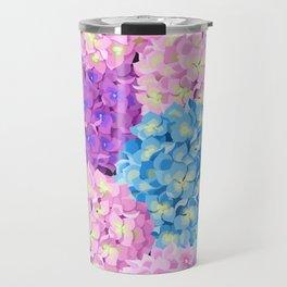 Purple & Blue Hydrangeas Travel Mug