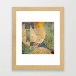 Abstract Grunge Patchwork Framed Art Print