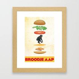 Broodje Aap (Monkey Sandwich) Framed Art Print