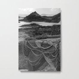Netting Lobos bw Metal Print