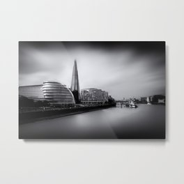 London City and The Shard.  Metal Print