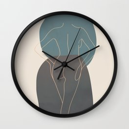 Line Female Figure 80 Wall Clock
