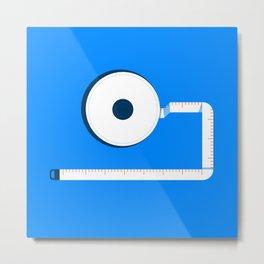 Measuring Tape Metal Print