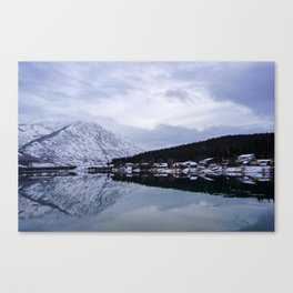 Reflective Contrast Canvas Print