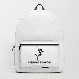 Fishing Season Loading Please Wait Backpack