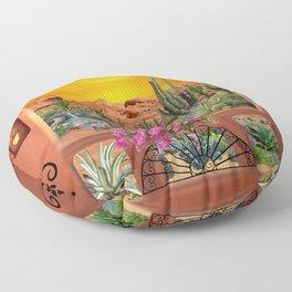 Sonoran Desert Landscape Floor Pillow
