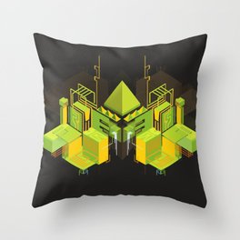 Temple of the Weeping Pyramid Throw Pillow