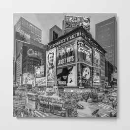 Times Square III Special Edition I (black & white) Metal Print
