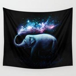 Elephant Splash Wall Tapestry