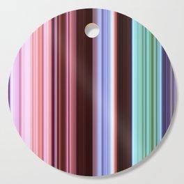 colorful striped pattern Cutting Board