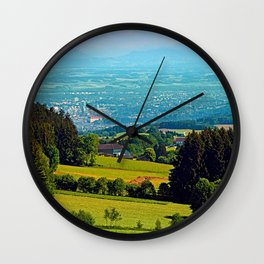 Urban and rural all together Wall Clock