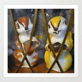 Vintage Squirrel Salt and Pepper Shakers Art Print