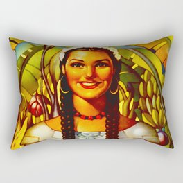 Vintage Bountiful Mexico Travel Rectangular Pillow