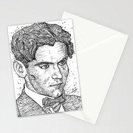 FEDERICO GARCIA LORCA ink portrait Stationery Cards