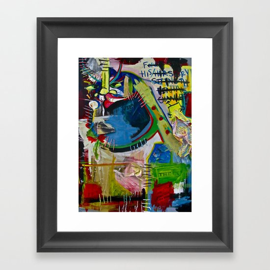 Basqui NOT #2 Framed Art Print