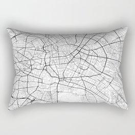 Berlin Map White Rectangular Pillow