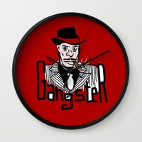 gangster Wall Clocks featuring Gangster by Logan_J
