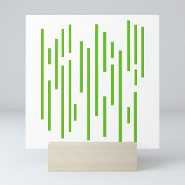 Minimalist Lines – Green Mini Art Print