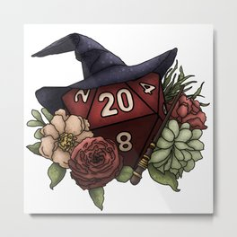 Wizard Class D20 - Tabletop Gaming Dice Metal Print